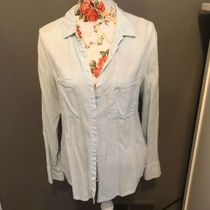 Cloth and Stone light blue button up